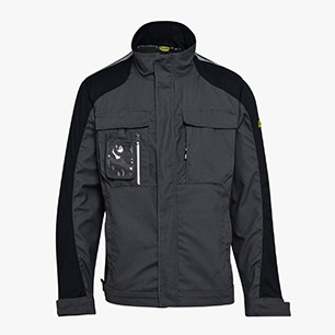 WORKWEAR JKT TECH ISO 13688:2013, BLACK COAL, medium