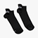 LIGHTWEIGHT QUARTER SOCKS, BLACK, swatch