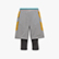 POWER SHORTS BE ONE, GRY QUIET SHADE/OYSTER MUSHROO, swatch