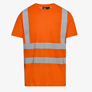 T-SHIRT HV ISO 20471, NARANJA FLUORESCENTE , medium