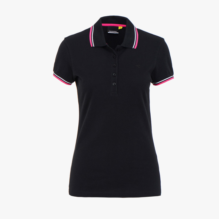 L.POLO SS PQ, BLACK, large